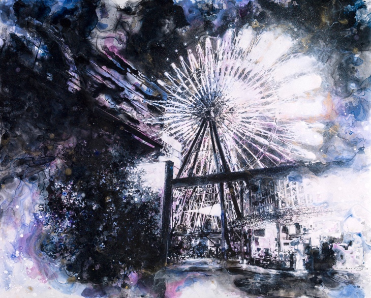 nocturne with ferris wheel_linbaoling